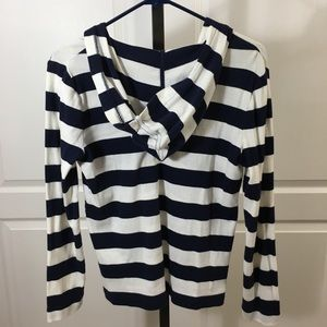 Striped Chaps hooded sweater